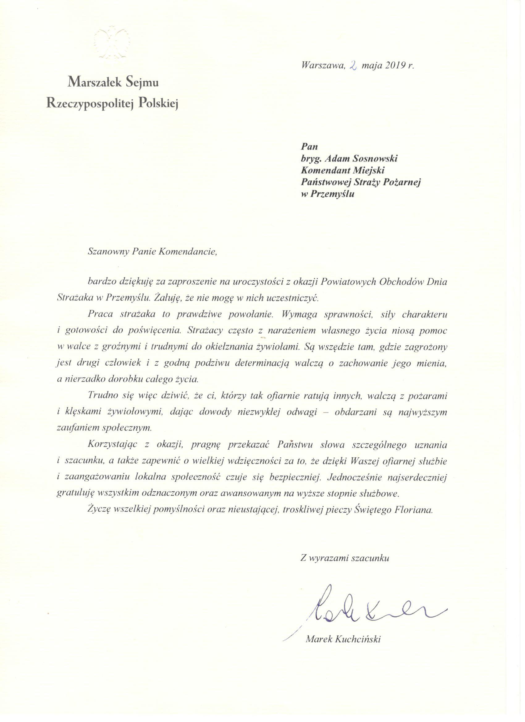 życzenia-Marszałek-Sejmu