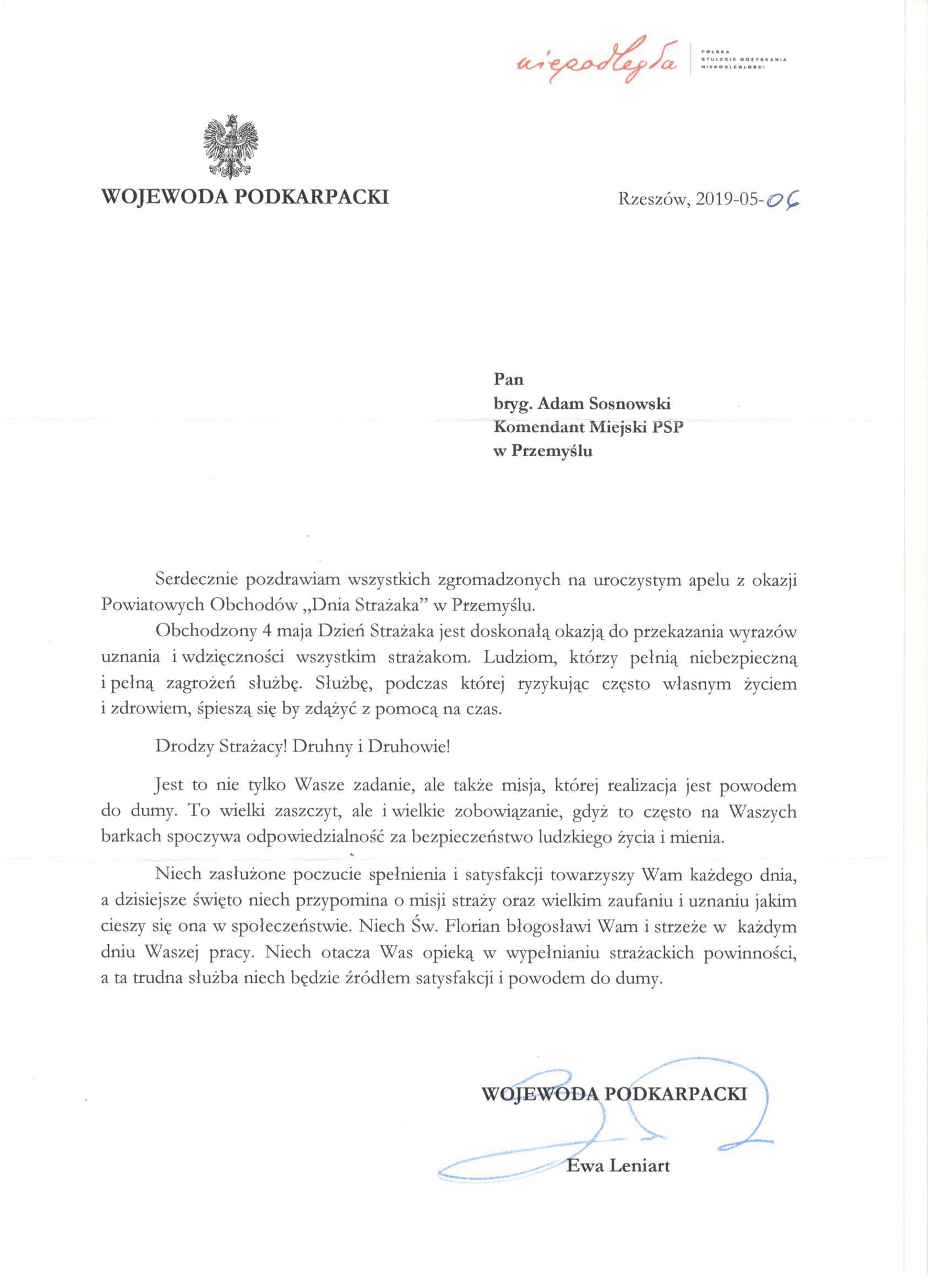 życzenia-Wojewoda-Podkarpacki