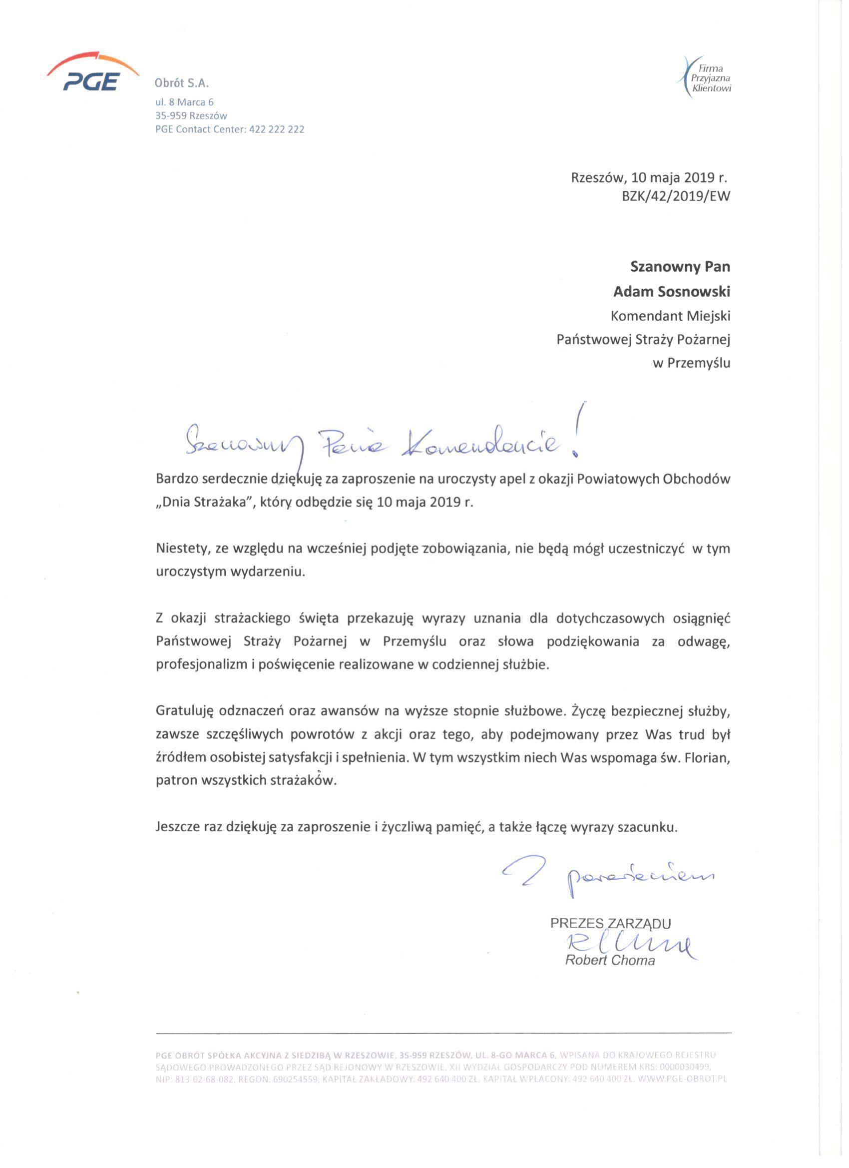 życzenia-zDyrektor-PGE